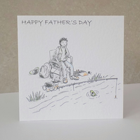 Father's Day Card  Fishing