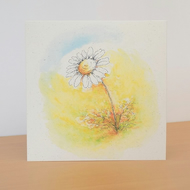 Eco Friendly Blank Card Daisy