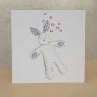 Eco Friendly Card White Bunny