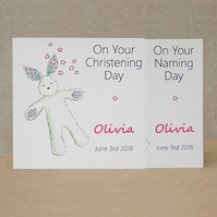 Personalised Eco Friendly card  -  Christening or Naming Day