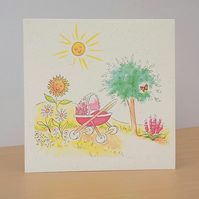 New Baby Girl World Eco friendly Card