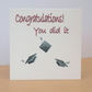 Eco friendly Graduation Congratulations Card