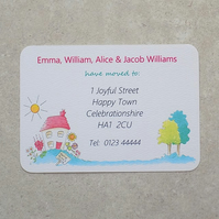 Personalised New Address Announcement Cards
