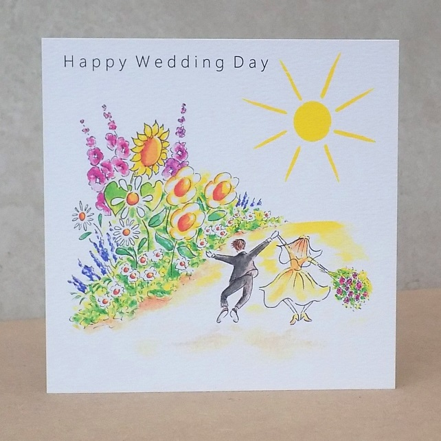 Happy Wedding Day Card  -  Personalised option available