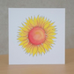 Blank Card Ecofriendly Sunflower