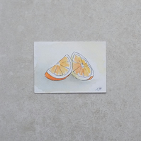 SALE   Original Watercolour ACEO - 'Orange'