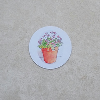 Fridge Magnet 'Flower Pot'