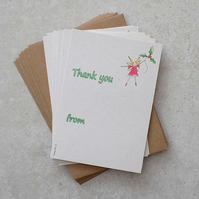 Christmas Thank you's Fairy (pack of 6)