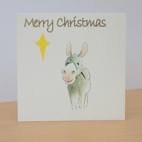 Christmas Card eco Donkey