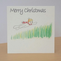 Christmas Card eco Snowman