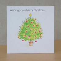 Christmas Card eco Christmas Tree