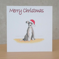 Christmas Card eco white Christmas Dog