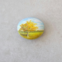 Painted Stone 'Autumn Tree'