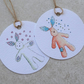 White Ecofriendly Gift Bunny Gift tags (pack of 2 of same design)
