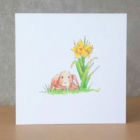 Easter Bunny Card Eco Friendly