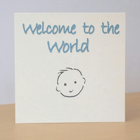 New Baby Boy Eco-friendly Card