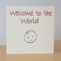 New Baby Girl Eco-friendly Card