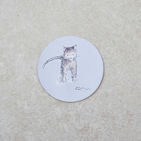 Fridge Magnet 'Cat and Mouse'