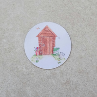 Fridge Magnet 'Garden Shed'
