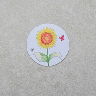 Fridge Magnet 'Sunflower Garden'