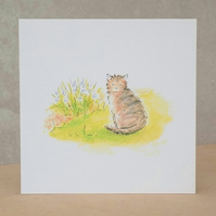 Eco Friendly Blank Cat Card
