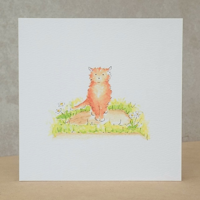 Blank Eco Friendly Ginger Cat card