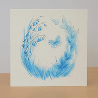 Bluebell Wood Eco Friendly Blank Card