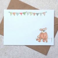 Pk of 5 Postcards - Bunting Bear