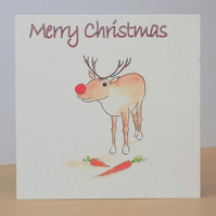 Christmas Card Eco Rudolph