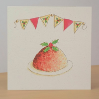 Christmas Card eco Christmas Pud