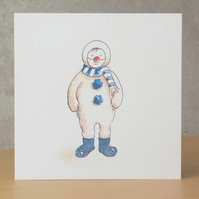Christmas Card eco 'Christmas Snowman Boots'