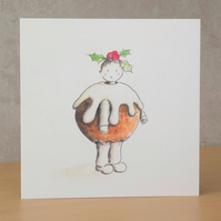 Christmas Card eco 'Christmas Pudding'