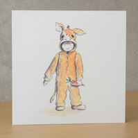 Christmas Card eco  'Christmas Donkey'