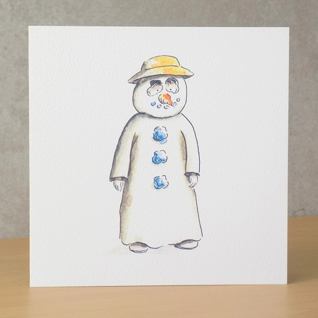 Christmas Card eco 'Christmas Hat Snowman'