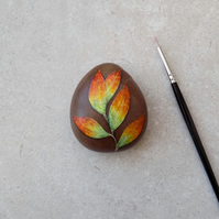 Painted Stone 'Leaves'