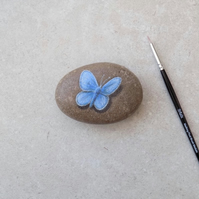 Painted Stone 'Blue Butterfly'