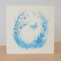 Eco-Friendly Card Bluebell Wood - Blank