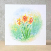 Daffodils Blank card Ecofriendly