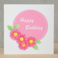 Flower Birthday card  Ecofriendly