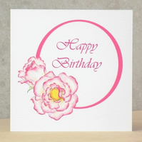 Rose Birthday card  Ecofriendly