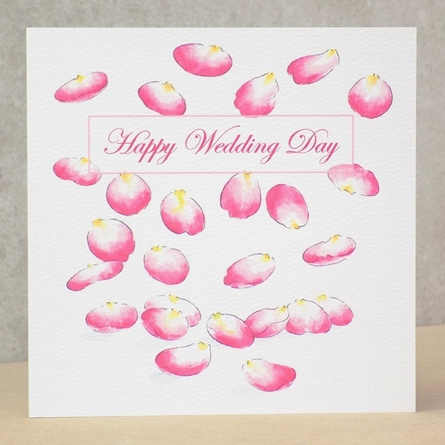 Happy Wedding Day Card  Petal -  Personalised option available