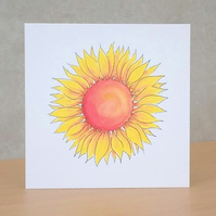 Blank  Eco-friendly Card Sunflower