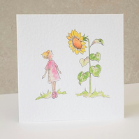 Daisy Sunflower Blank Greeting Card