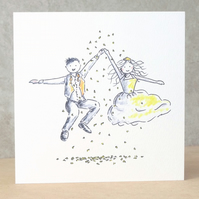 Wedding Card Jump (Blonde)  -  Personalised option available