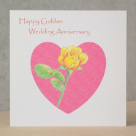 Happy Golden Wedding Anniversary Card