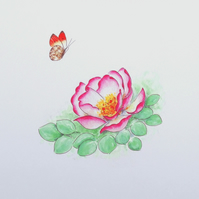 Art Print 'Butterfly Rose'