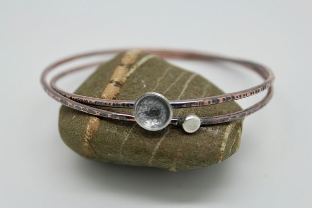 copper stacking bangle set