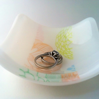 Mini Foral Glass Fused Dish
