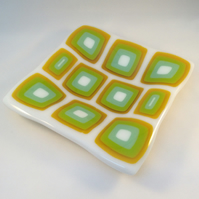 Retro Fused Glass Dish