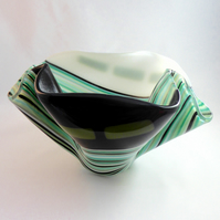 Ripple Fused Glass Vase or Bowl